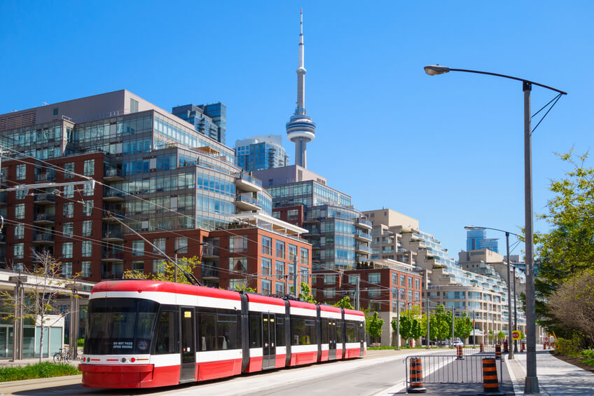 Downtown Toronto view on CN Tower