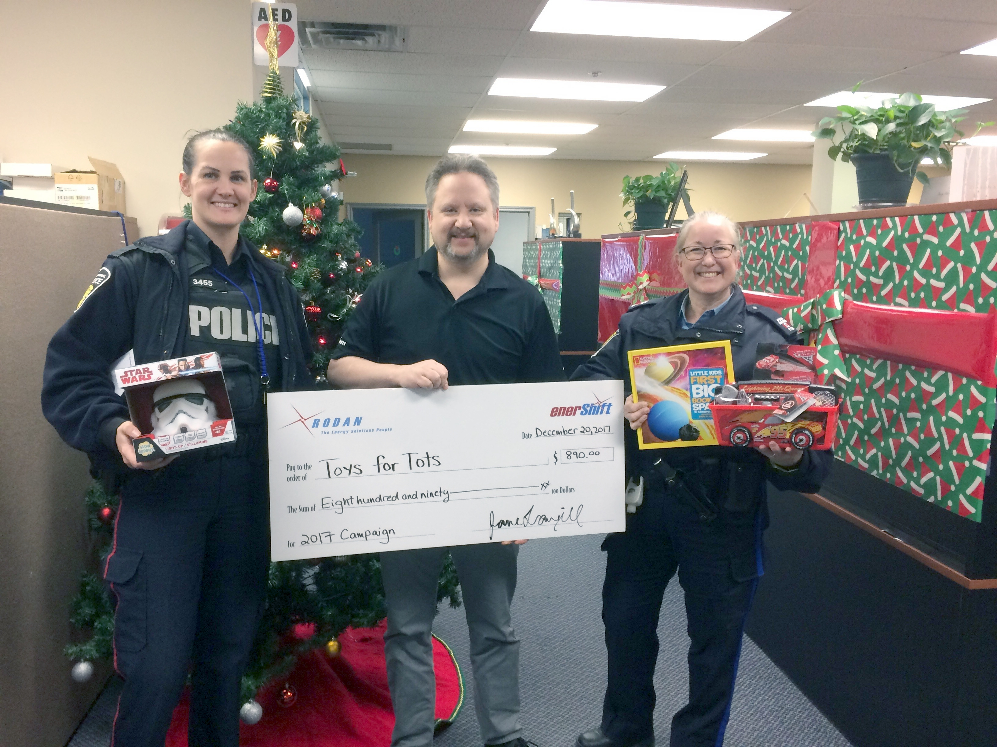Police Toys For Tots 2017 : Rodan energy toys for tots solutions