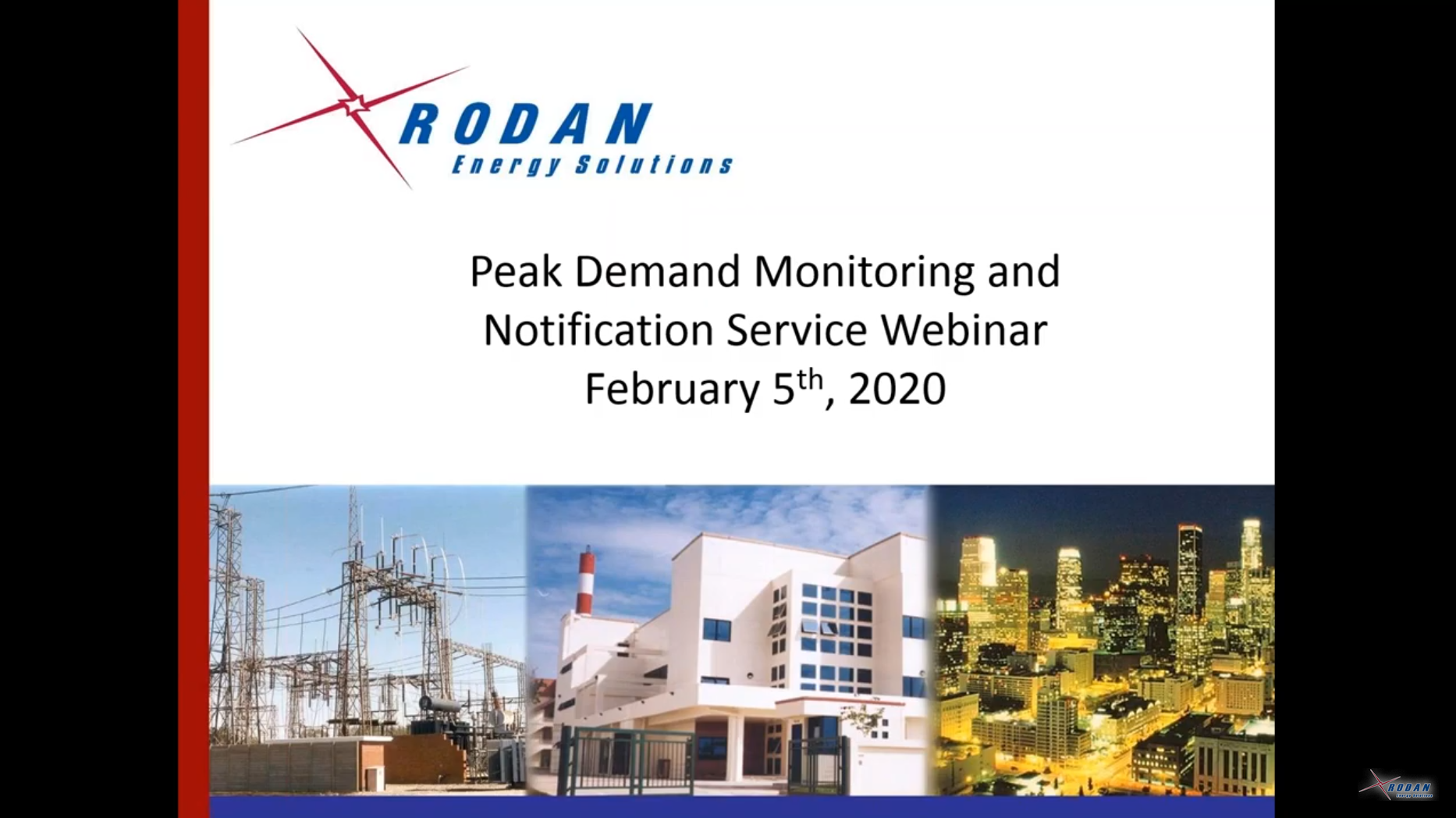 Peak Demand Monitoring Webinar